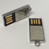 USB-Stick 8GB Edelstahlgehäuse mit Grappt Logo