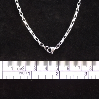 Necklaces stainless steel, Venezian-Chain, 51 cm long,2mm strong