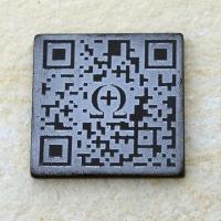QR-Code, Glas, 48x48 mm, 8mm stark
