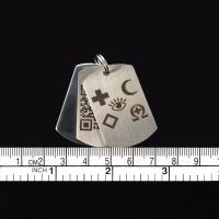 1 x Edelstahl - Sicherheitsplatte als Scanschutz (Einseitig mit Notfallemblemen graviert)
