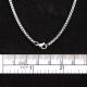 Halskette Edelstahl, Box-Kette, 51 cm lang,2mm stark