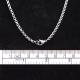 Halskette Edelstahl Erbskette 3.0mm dick, in verschiedenen Längen