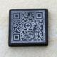 QR-Code, schwarzer Marmor 47x47x5 mm, mit Rand